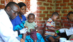 Malaria check-up on mothers and babies in Kwamasimba, Tanzania