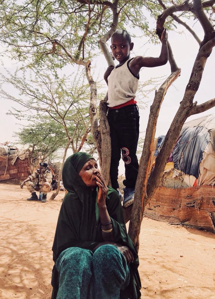 Grandmother and her grandson in Togdheer camp, Somaliland.