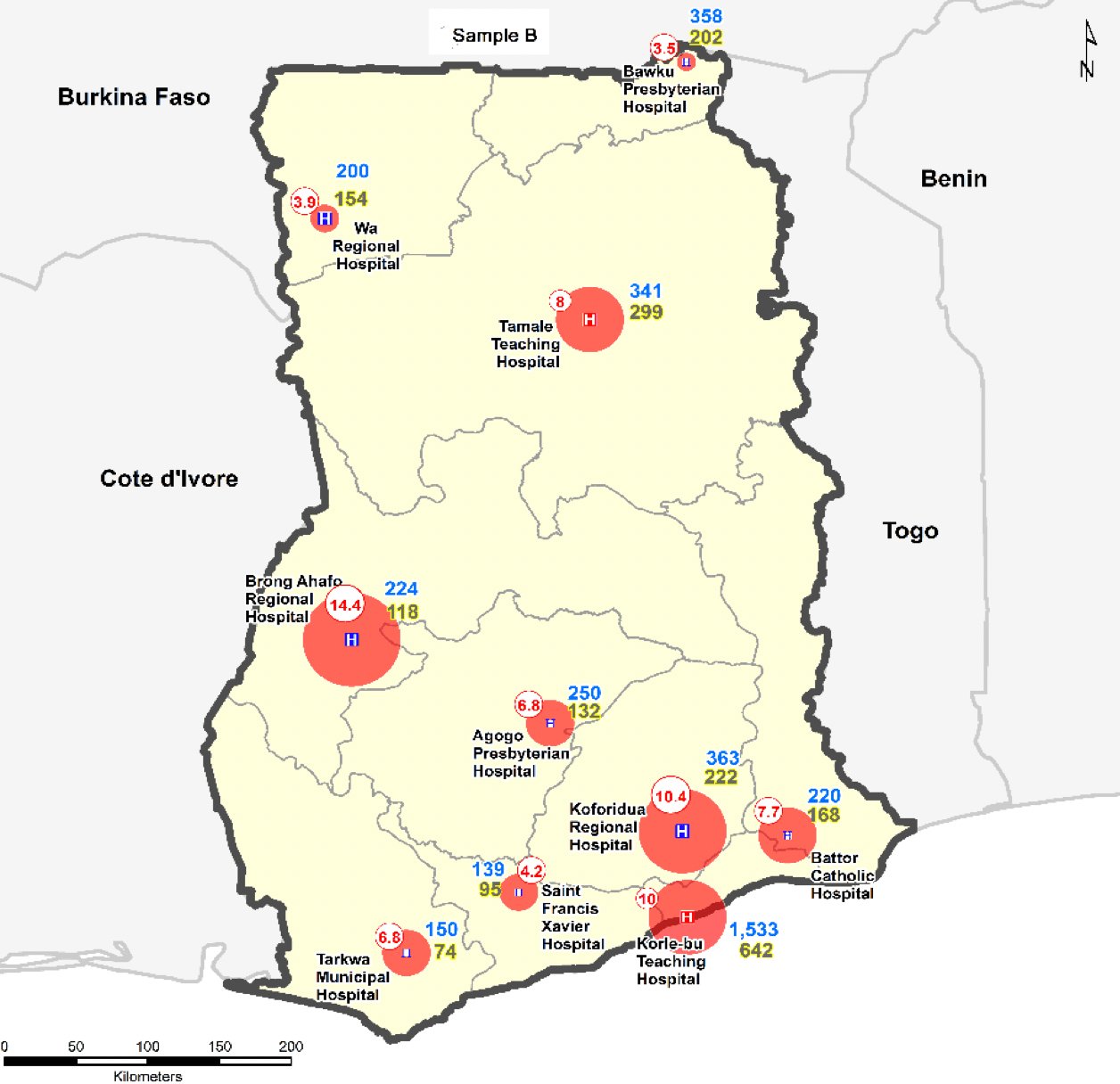 Picture of prevalence of healthcare-associated infections in ten hospitals across Ghana